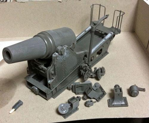 形になってきた28cm榴弾砲