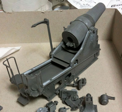 28cm榴弾砲後部