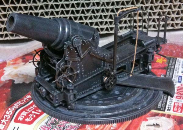 ほぼ塗装完了した28cm榴弾砲