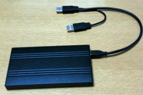 USBケーブルを接続したところ